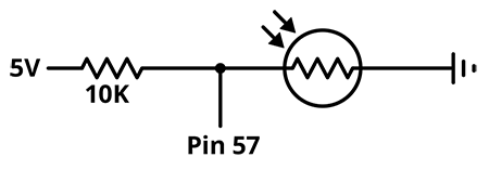 A circuit schematic detailing how to hook up your light sensor